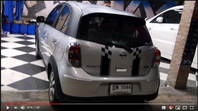 แต่งรถ NISSAN March ปี 2012 ชุดแต่ง MINI