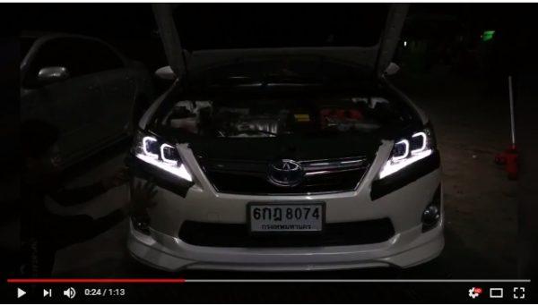 แต่งรถ Toyota Camry 2012-2014 โคมไฟหน้าแต่ง C style