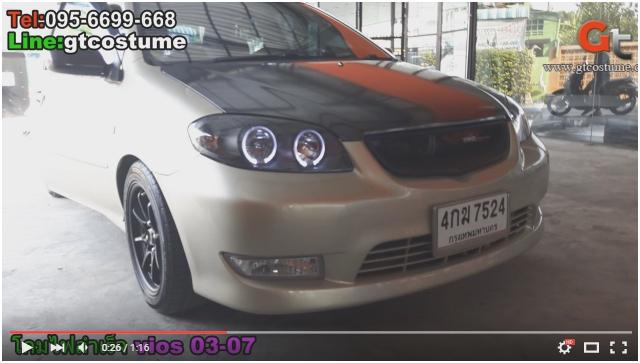 โคมไฟหน้าโปรเจคเตอร์ Toyota Vios 2003 Smoke