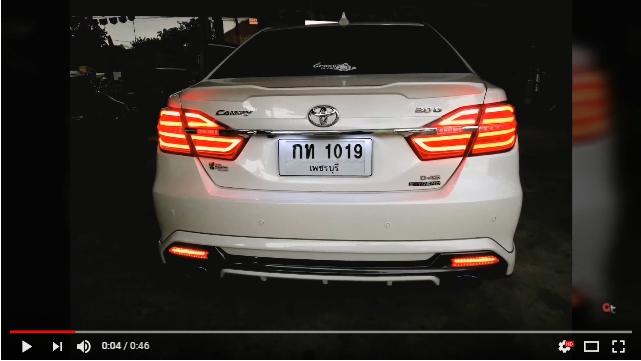 แต่งรถ Toyota Camry 2015 โคมไฟท้ายแต่ง Benz style