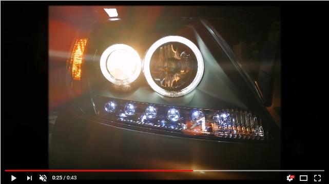 แต่งรถ Vigo โคมไฟหน้าแต่งสำเร็จ V2