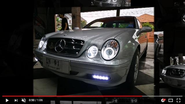 แต่งรถ Benz w208 โคมไฟหน้าแต่ง V1