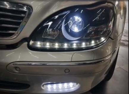 แต่งรถ Mercedes Benz S280 W220 โคมไฟแต่ง