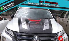 แต่งรถ Mitsubishi Pajero ปี 2019 ครอบฝากระโปรงหน้า GT