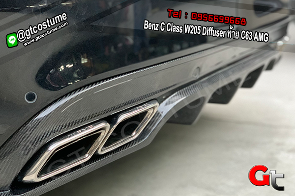 แต่งรถ Benz C Class W205 Diffuser ท้าย C63 AMG